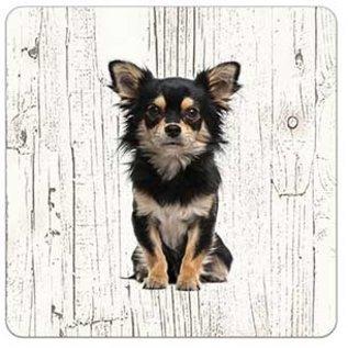 Creatief Art Hond Chihuahua | Houten Onderzetters 6 Stuks
