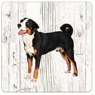 Creatief Art Hond Appenzeller | Houten Onderzetters 6 Stuks