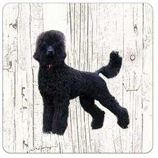 Creatief Art Hond Koningspoedel | Houten Onderzetters 6 Stuks