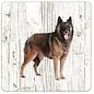 Creatief Art Hond Tervuurse Herder | Houten Onderzetters 6 Stuks