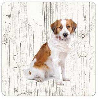 Creatief Art Hond kooikerhondje | Houten Onderzetters 6 Stuks