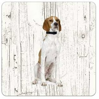 Creatief Art Hond Pointer | Houten Onderzetters 6 Stuks