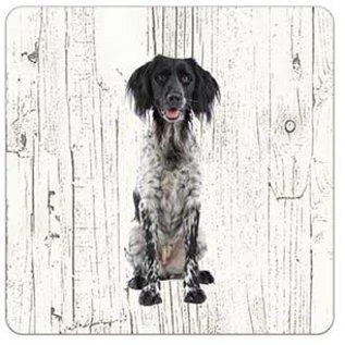Creatief Art Hond Grote Münsterländer | Houten Onderzetters 6 Stuks