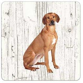 Creatief Art Hond Rhodesian Ridgeback | Houten Onderzetters 6 Stuks
