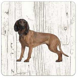 Creatief Art Hond Beierse Bergzweethond | Houten Onderzetters 6 Stuks