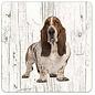 Creatief Art Hond Basset Hound | Houten Onderzetters 6 Stuks