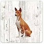Creatief Art Hond Basenji | Houten Onderzetters 6 Stuks