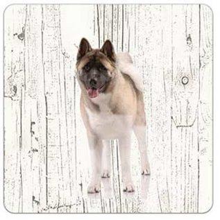 Creatief Art Hond Amerikan Akita | Houten Onderzetters 6 Stuks