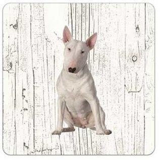 Creatief Art Hond Bull Terriër | Houten Onderzetters 6 Stuks