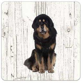 Creatief Art Hond Tibetaanse Mastiff | Houten Onderzetters 6 Stuks