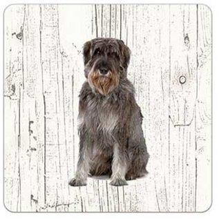 Creatief Art Hond Riesenschnauzer | Houten Onderzetters 6 Stuks