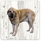 Creatief Art Hond Spaanse Mastiff | Houten Onderzetters 6 Stuks
