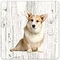 Creatief Art Hond Welsh Corgi Pembroke | Houten Onderzetters 6 Stuks