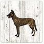 Creatief Art Hond Hollandse Herder (korthaar) | Houten Onderzetters 6 Stuks