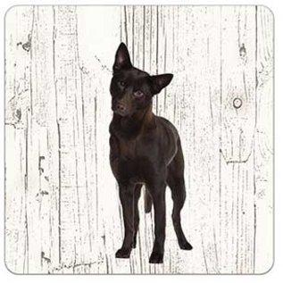 Creatief Art Hond Austrailian Celpie | Houten Onderzetters 6 Stuks