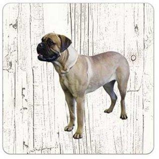 Creatief Art Hond Bullmastiff | Houten Onderzetters 6 Stuks