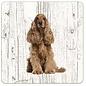 Creatief Art Hond Engelse Cocker   Houten Onderzetters 6 Stuks