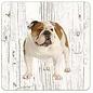 Creatief Art Hond Engelse Buldog | Houten Onderzetters 6 Stuks