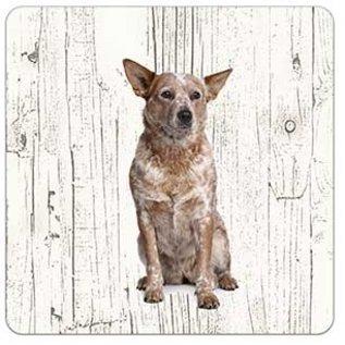 Creatief Art Hond Australian Cattle Dog | Houten Onderzetters 6 Stuks