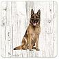 Creatief Art Hond Duitse Herder | Houten Onderzetters 6 Stuks