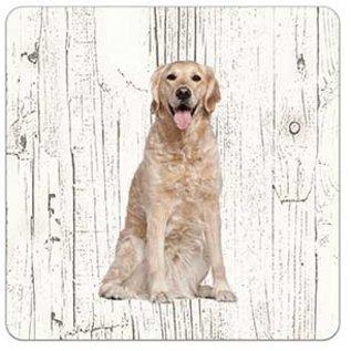 Creatief Art Hond Golden Retriever | Houten Onderzetters 6 Stuks