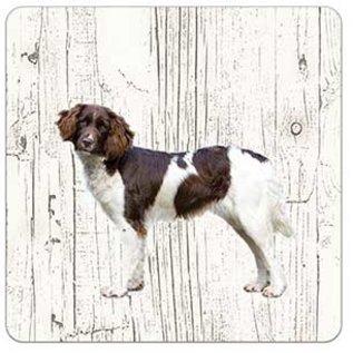 Creatief Art Hond heidewachtel | Houten Onderzetters 6 Stuks