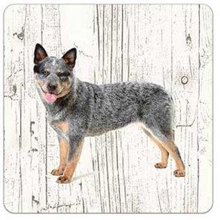 Creatief Art Hond australien cat dog | Houten Onderzetters 6 Stuks