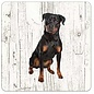 Creatief Art Hond Rottweiler | Houten Onderzetters 6 Stuks