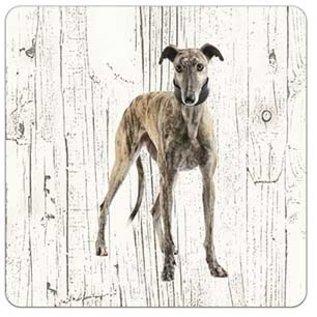 Creatief Art Hond Greyhound | Houten Onderzetters 6 Stuks