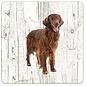 Creatief Art Hond Irish Setter   Houten Onderzetters 6 Stuks