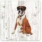Creatief Art Hond Boxer | Houten Onderzetters 6 Stuks