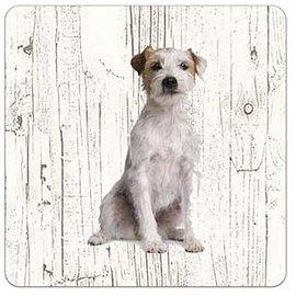 Creatief Art Hond Jack Russel Ruwharig | Houten Onderzetters 6 Stuks