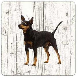 Creatief Art Hond Dwergpincher | Houten Onderzetters 6 Stuks