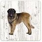 Creatief Art Hond Leonberger | Houten Onderzetters 6 Stuks