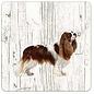 Creatief Art Hond King Charles   Houten Onderzetters 6 Stuks