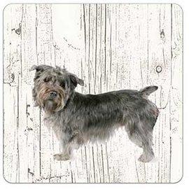 Creatief Art Hond Imaal Terrier | Houten Onderzetters 6 Stuks