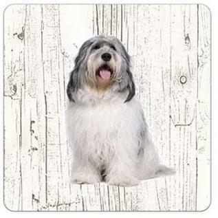 Creatief Art Hond Bobtail Terrier | Houten Onderzetters 6 Stuks