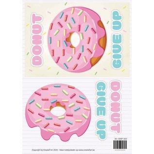 Creatief Art 3D Sign - Donut aufgeben