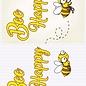 Creatief Art 3D-Platte - Biene glücklich