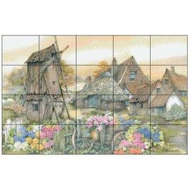 Pixel Hobby Pixel Hobby 20 Grundplatten - Landschaft mit Windmühle