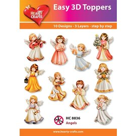 Hearty Crafts Anges topper 3D faciles
