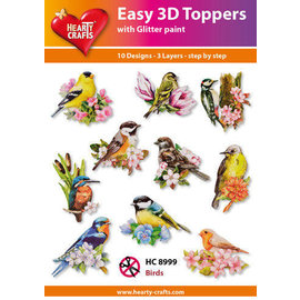 Hearty Crafts Topper 3D facile Birds