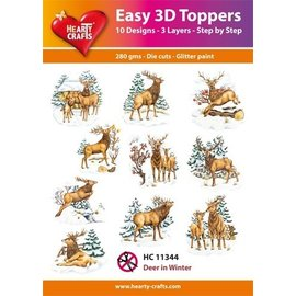 Hearty Crafts Easy 3D topper Deer in winter