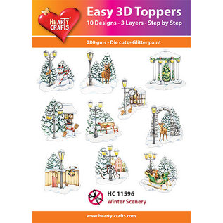 Hearty Crafts Easy 3D topper Winter scenery