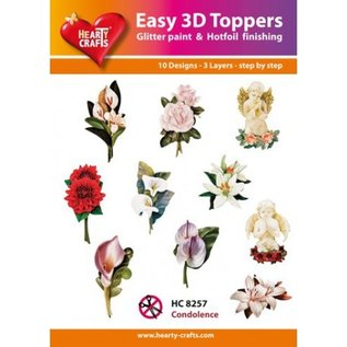 Hearty Crafts Einfaches 3D-Topper-Beileid