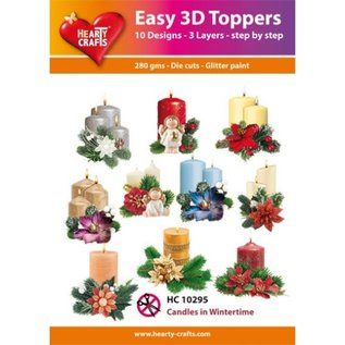 Hearty Crafts Bougies topper 3D faciles en hiver
