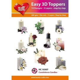 Hearty Crafts Easy 3D topper Condolence Candles