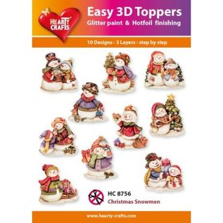 Hearty Crafts Easy 3D topper Christmas snowmen