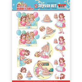 Find It 3D Pushout - Yvonne Kreationen - Sprudelnde Mädchen - Party - Backen