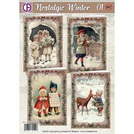 Creatief Art Nostalgischer Winter 01